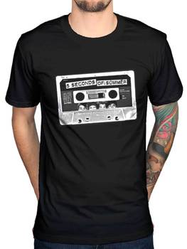 Resmi 5 Yaz 5sos Bant Grafik T-Shirt Rock Band Pop One D 1D